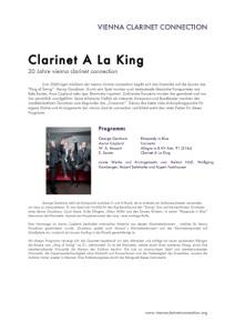 Clarinet a la King